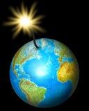 Planeta da bomba Imagem de Stock Royalty Free