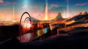 Planeta da ficção científica ilustração do vetor