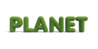 Planeta da inscrição da grama verde Imagens de Stock Royalty Free
