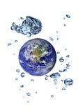 planeta da Terra-água Fotografia de Stock Royalty Free