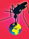 Planeta de ataque da febre do mosquito Fotografia de Stock