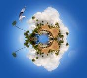 Planeta de Caribe de Punta Cana, planeta miniatura de Punta Cana, República Dominicana imagen de archivo libre de regalías