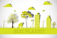 Planeta de Eco Fotografia de Stock