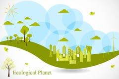 Planeta de Eco Fotografia de Stock Royalty Free