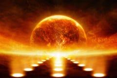 Planeta de explosão Foto de Stock