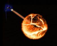 Planeta de explosão Fotos de Stock