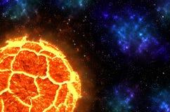 Planeta de explosão Imagem de Stock Royalty Free