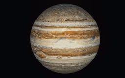 Planeta de J?piter aislado en negro imagen de archivo