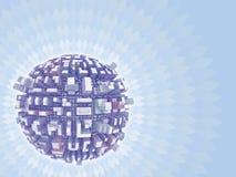 planeta de la ciudad 3d Foto de archivo libre de regalías
