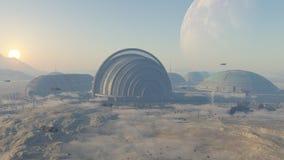 Planeta de la colonización Imagenes de archivo