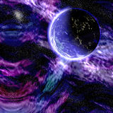 Planeta de la galaxia Foto de archivo libre de regalías