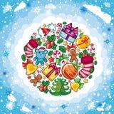 Planeta de la Navidad ilustración del vector