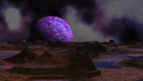 Planeta de la púrpura de la salida del sol