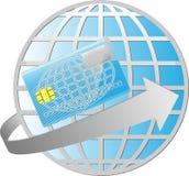 Planeta de la tarjeta de crédito Imágenes de archivo libres de regalías