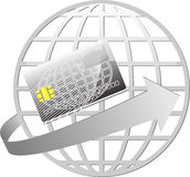 Planeta de la tarjeta de crédito Imagen de archivo