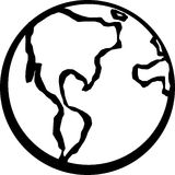 Planeta de la tierra Fotos de archivo libres de regalías