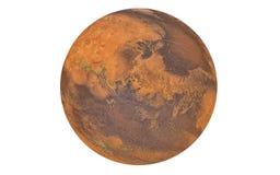 Planeta de Marte aislado en blanco fotografía de archivo