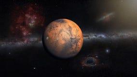 Planeta de Marte en el espacio exterior imagenes de archivo