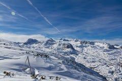 Planeta de montañas y de la nieve Foto de archivo