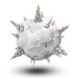Planeta de Navidad Fotos de archivo libres de regalías