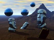 Planeta de Pascua. ilustración del vector