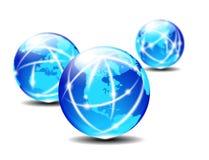 Planeta de uma comunicação global Imagens de Stock Royalty Free