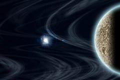 Planeta de vanguarda e espaço ilustração stock