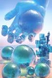 Planeta de vidro estrangeiro ilustração stock