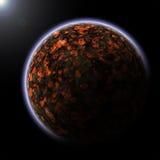 Planeta de Vulcanic ilustração stock