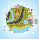 Planeta del centro turístico libre illustration