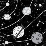 planeta del espacio del cartel del cuarto de niños ilustración del vector