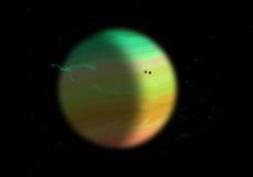 Planeta del gigante de gas Imagen de archivo libre de regalías