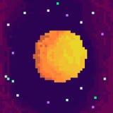 Planeta del pixel Imagenes de archivo