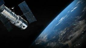 Planeta del satélite y de la tierra en el espacio exterior stock de ilustración
