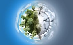 planeta del Verano-invierno Fotos de archivo libres de regalías