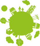 Planeta del verde del ejemplo del vector Imagen de archivo