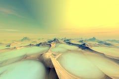 Planeta desconocido Montañas Imagen de archivo libre de regalías