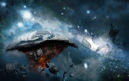 Planeta destruido Imágenes de archivo libres de regalías