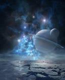 Planeta distante ilustração stock