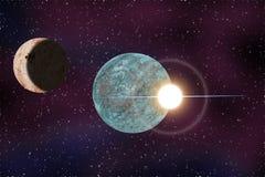 Planeta do espaço na noite Fotos de Stock