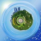 Grant Park Planet (Chicago) Imagens de Stock Royalty Free