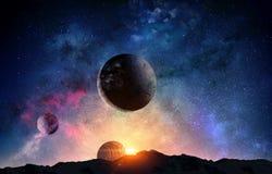 Planeta do Plutão Meios mistos imagens de stock royalty free