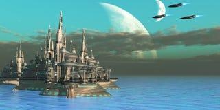 Planeta do setor de Quadron Imagens de Stock Royalty Free
