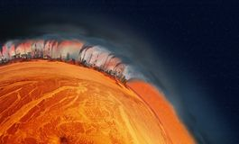 Planeta do superaquecimento foto de stock royalty free
