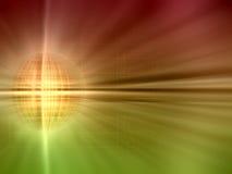 Planeta dourado abstrato Fotografia de Stock Royalty Free