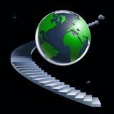 Planeta e escadas Fotografia de Stock