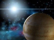 Planeta e estrela Imagens de Stock Royalty Free