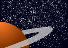 Planeta e estrelas Imagens de Stock Royalty Free