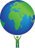 Planeta e icono Imágenes de archivo libres de regalías