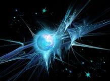 Planeta e nebulosa ilustração royalty free